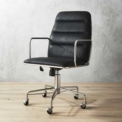 Mad Black Executive Chair - CB2