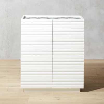 Porto White Storage Cabinet - CB2