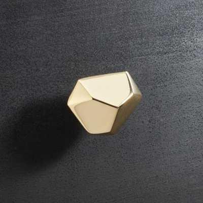 Quin Shiny Brass Knob - CB2