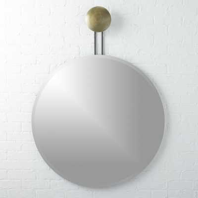 """Dot Brass Suspended Mirror 36"""""" - CB2"