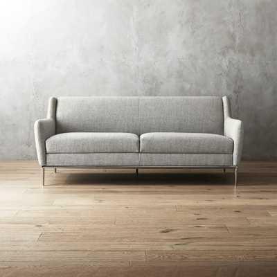 Alfred Stone Grey Sofa - CB2