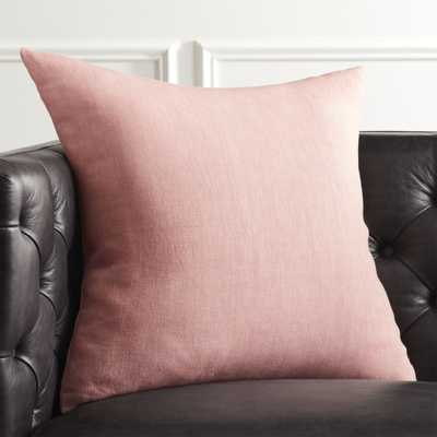 """20"""" Linon Rose Pillow with Down-Alternative Insert"" - CB2"