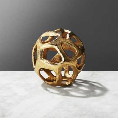 Meteor Small Brass Sphere - CB2