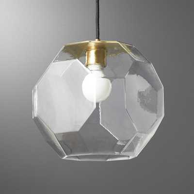 Flat Glass Pendant Light - CB2