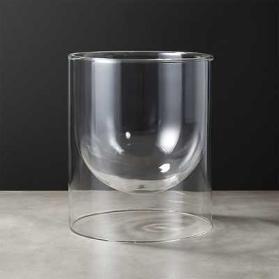 Double Wall Glass Vase - CB2