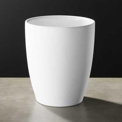 White Rubber Coated Wastebasket - CB2
