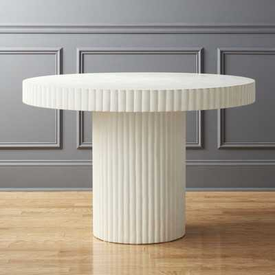 Scallop Ivory Table - CB2