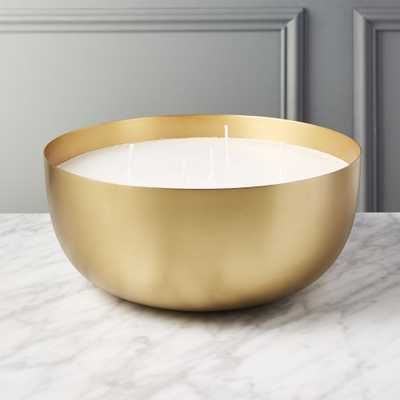 Large Brass Candle Bowl - CB2