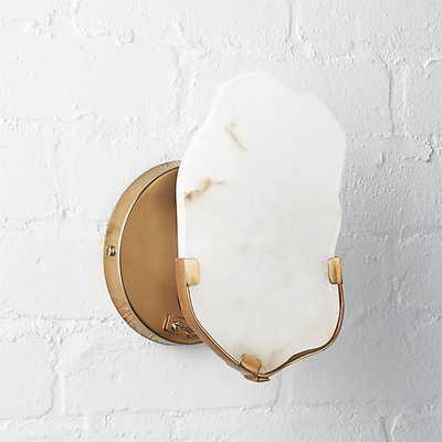 raw edge alabaster wall sconce - CB2