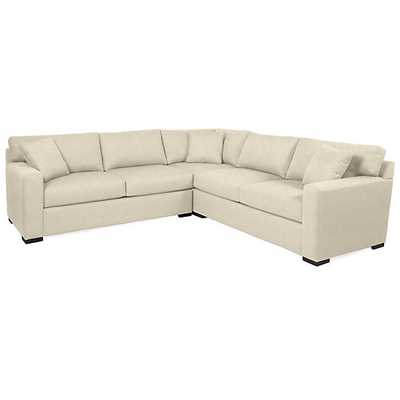 Phoenix Corner Sectional - 3 PC, Opulent Snow - Z Gallerie