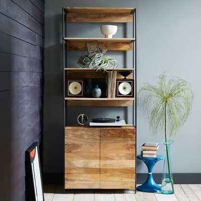 "Industrial Storage Modular System- 33"" Bookshelf Open + Closed - West Elm"