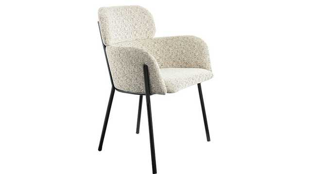 azalea ivory moon chair - CB2