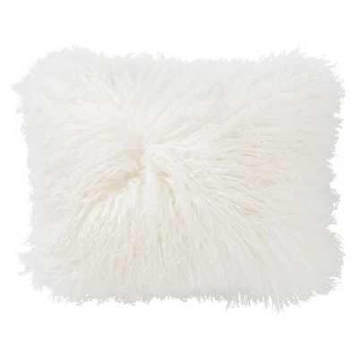 Mongolian Fur Pillow Covers 12 x 16, white - Pottery Barn Teen