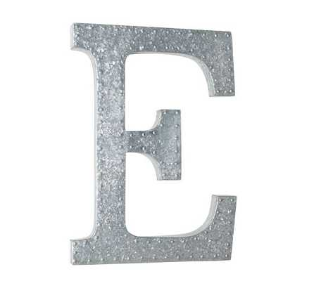 HANGING GALVANIZED LETTERS WALL ART - Pottery Barn