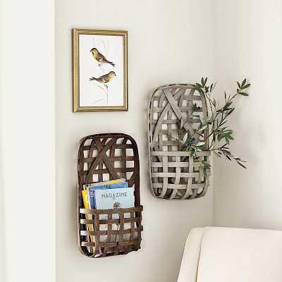 Ballard Designs Tobacco Basket Wall Pocket - Ballard Designs
