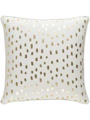 "Dalmatian Pillow, Gold - 18"" x 18"" - polyester Filled - Lulu and Georgia"