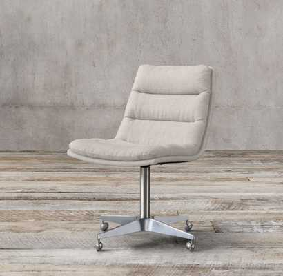 GRIFFITH FABRIC DESK CHAIR - Bisque - RH