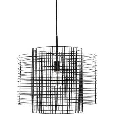 Overlap Black Cage Pendant Light - CB2