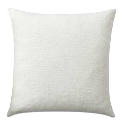 """Reversible Belgian Linen Pillow Cover, 22"""" X 22"""",Oyster/Natural - Williams Sonoma"""