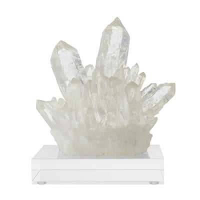 Resin Quartz Cluster On Acrylic Stand - Williams Sonoma