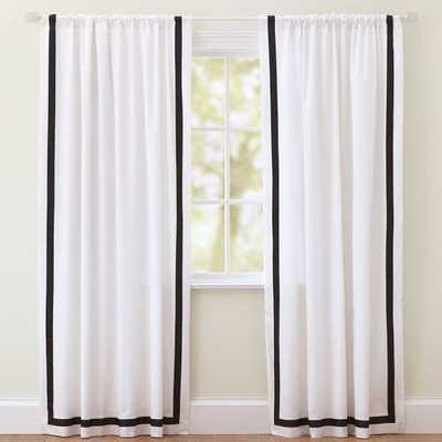 "Suite Ribbon Drape With Blackout, 84"", Black - SINGLE PANEL - Pottery Barn Teen"