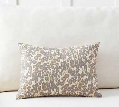 "Cheetah Print Pillow, 12 x 16"", Neutral Multi - Pottery Barn"