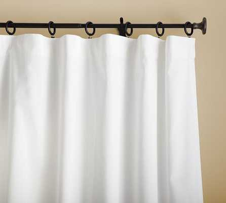 "Cameron Cotton Pole Pocket Drape, 50 x 96"", White - Pottery Barn"
