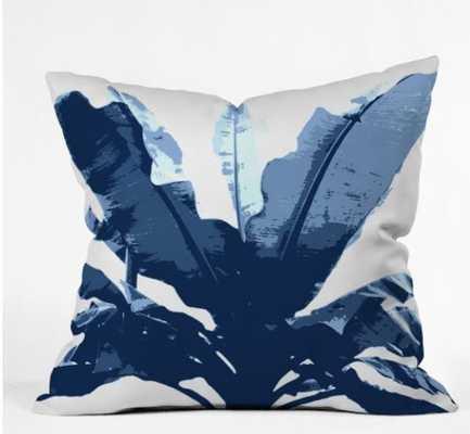 "BANANARAMA NAVY Outdoor Pillow 26""x26"" - Wander Print Co."