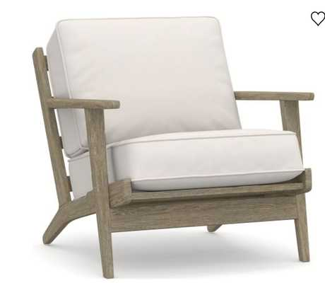 Raylan Upholstered Armchair, Polyester Wrapped Cushions, Performance Everydaylinen™ by Crypton® Home, Ivory - Pottery Barn