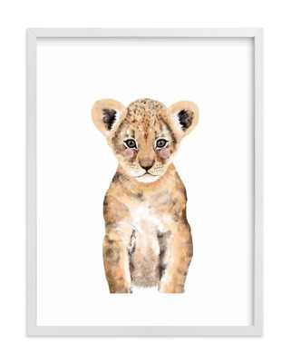 Baby Animal Lion Framed Art Prin - Society6