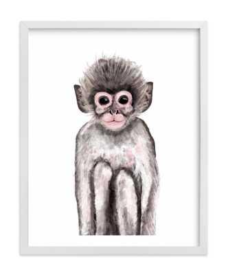 Baby Animal Monkey 11x14 - Society6