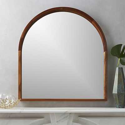 Acacia Wood Mantel Mirror - CB2