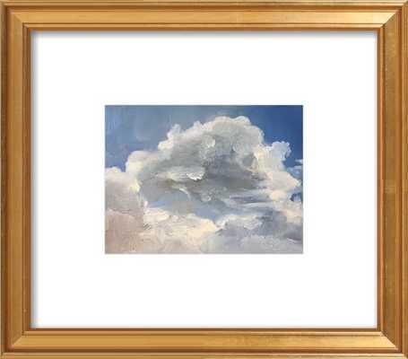 """Clouds - Framed Art Print, Gold Leaf 10"""" x 8"""" - Artfully Walls"""