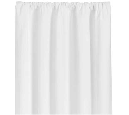 """Wallace 52""""x84"""" White Curtain Panel - Crate and Barrel"""
