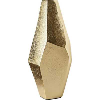 Von Gold Geometric Vase - CB2