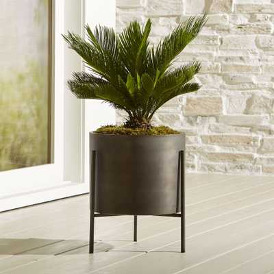 Dundee Low Planter with Stand - Crate and Barrel