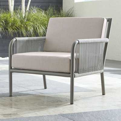 Morocco Light Grey Lounge Chair with Sunbrella ® Cushion - Crate and Barrel