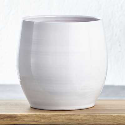 Campana Large White Planter - Crate and Barrel