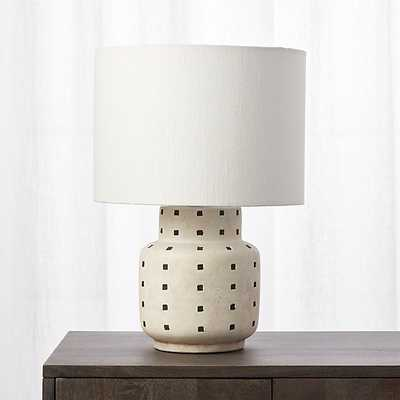 Grid Black and White Polka Dot Table Lamp - CB2
