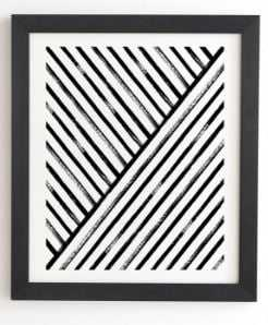 Geometric Stripe Pattern - Black Frame - Wander Print Co.