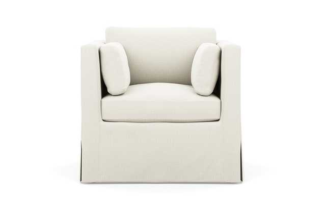 Miles Petite Chair - Ivory Heavy Cloth - Interior Define