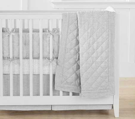 Belgian Flax Linen Mini Baby Bedding quilt - Pottery Barn Kids