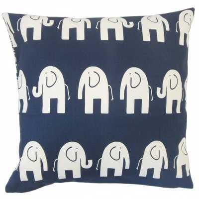 Adeniyi Graphic Pillow Navy - Linen & Seam
