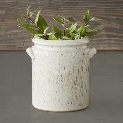 Speckled Ivory Earthenware Vase - Williams Sonoma