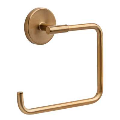 Delta Trinsic Open Towel Ring in Champagne Bronze - Home Depot