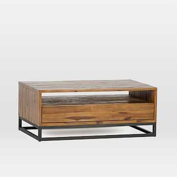 Logan Industrial Coffee Table, Natural - West Elm