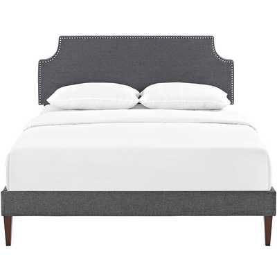 CORENE QUEEN PLATFORM BED WITH SQUARED TAPERED LEGS - Modway Furniture