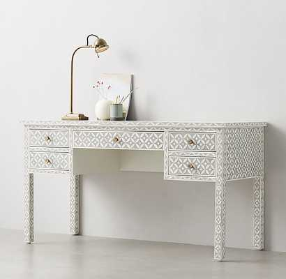 SALMA MOSAIC INLAY STORAGE DESK - RH Teen