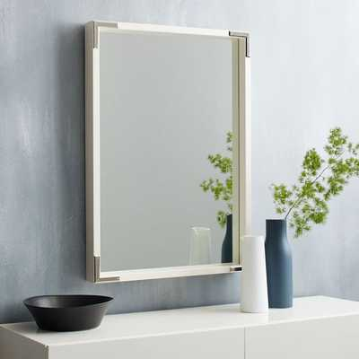 Malone Campaign Wall Mirror - White Lacquer - West Elm