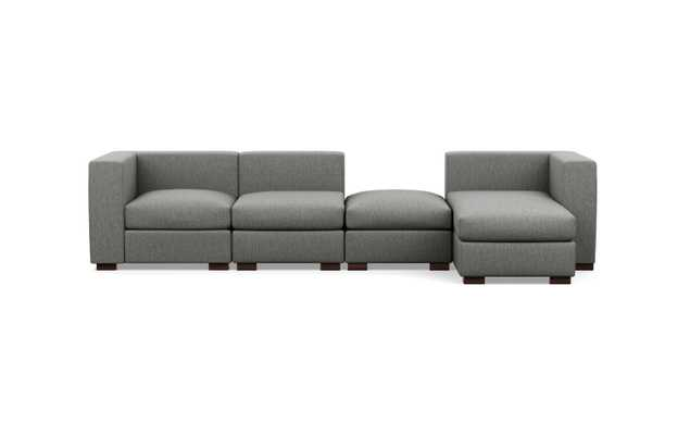 "128"" Chaise Sectional w/ Ottoman, Left Chaise - Interior Define"